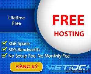 VietIDC tặng hosting miễn phí cho cộng đồng