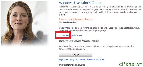 Hướng dẫn đăng ký email với tên miền riêng tại Live.com của Microsoft